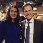 Mark Rutte en Mirjam Bink